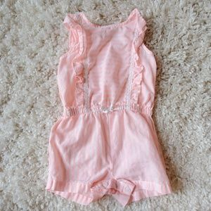 Baby girl coral romper